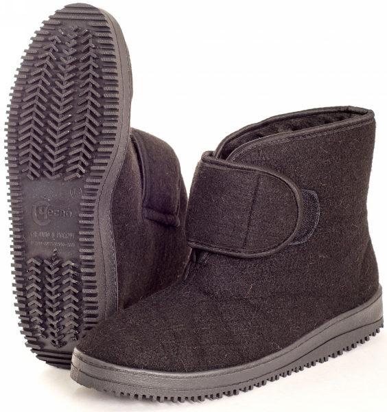 Ботинки мужские суконно-меховые (застежка липучка)