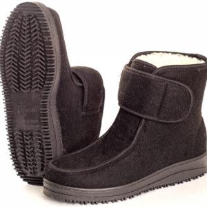 Ботинки мужские войлочные с мокасиновой вставкой (застежка липучка)
