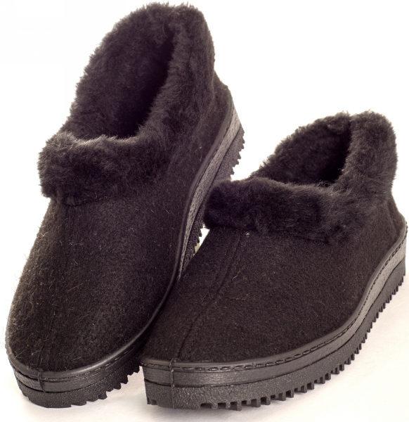 Туфли суконно-меховые с опушкой